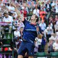 Andy Murray, champion olympique 2012 après sa victoire sur Riger Federer le 5 aout à Wimbledon