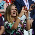 Kim Sears lors du sacre de son homme Andy Murray en finale du tournoi olympique de tennis le 5 août 2012 à Londres