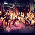 Laeticia Hallyday a organisé comme chaque année une magnifique fête d'anniversaire avec Johnny pour leurs filles Jade, 8 ans, et Joy, 4 ans, à Saint-Barthélemy. Photo partagée sur Instagram le 12 août 2012.