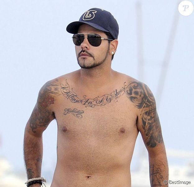 Eduardo Cruz en vacances à Ibiza le 12 août 2012