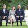 Prince Philippe, la Reine Paola, le Roi Albert II et Princesse Mathilde