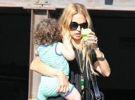 Rachel Zoe, câline avec son fils Skyler avant son show attendu à la Fashion Week
