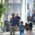 Le prince Felix de Danemark, 10 ans, a fait le 14 août 2012 sa rentrée en 4e à l'école Krebs de Copenhague, accompagné par sa mère la comtesse Alexandra de Frederiksborg et son beau-père Martin Jorgensen.
