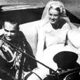 Le prince Rainier et la princesse Grace le jour de leur mariage en 1956