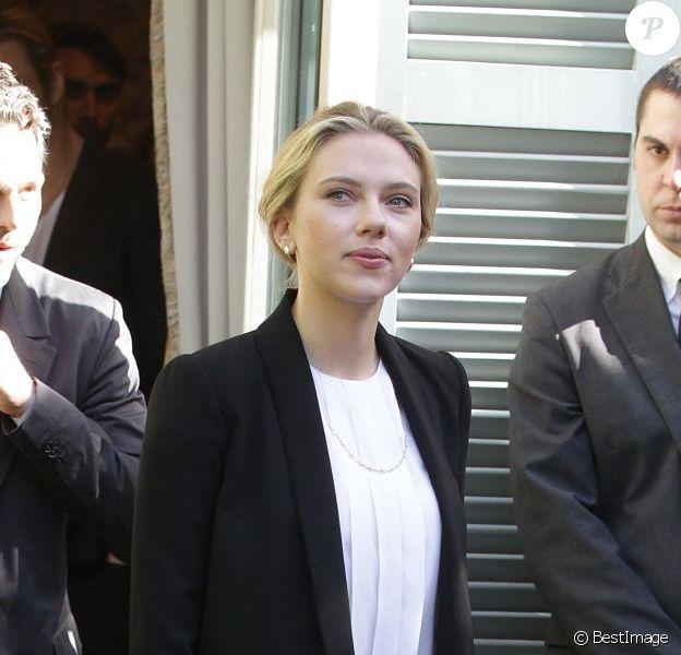 Scarlett Johansson lors de la première de Avengers à Rome en avril 2012