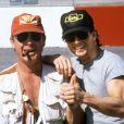 Tom Cruise et Tony Scott sur le tournage de  Jours de tonnerre  (1990).