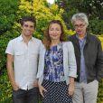 Arthur Dupont, Catherine Frot et Christian Vincent lors du festival du film francophone d'Angoulême le 26 août 2012