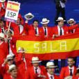 La délégation espagnole lors de la cérémonie d'ouverture des Jeux paralympiques de Londres, le 29 août 2012.