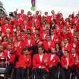 La délégation paralympique espagnole avant l'ouverture des Jeux paralympiques, le 29 août 2012.