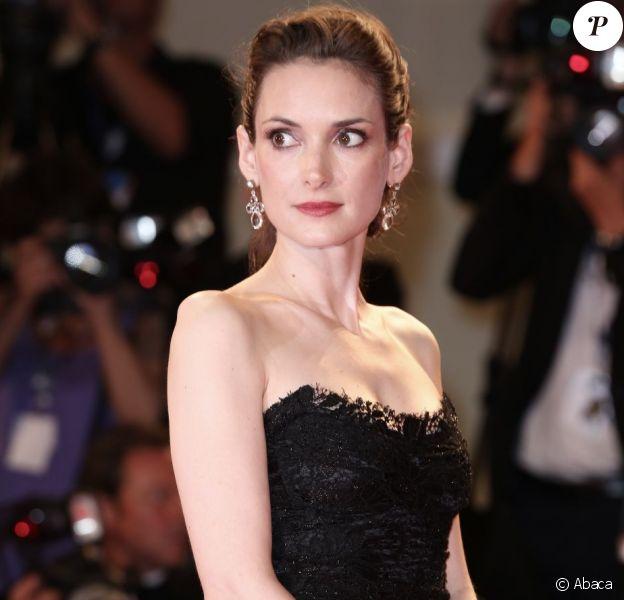 Winona Ryder, superbe à 40 ans, lors de la présentation de The Iceman à la Mostra de Venise, le 30 août 2012.
