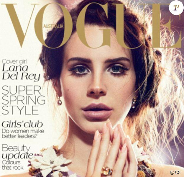 Couverture du Vogue Australie d'octobre 2012, avec Lana Del Rey