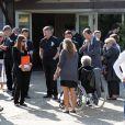 Obsèques de Stéphane Slima au crématorium de La Rochelle, le 3 septembre 2012 en présence de ses proches et de sa famille