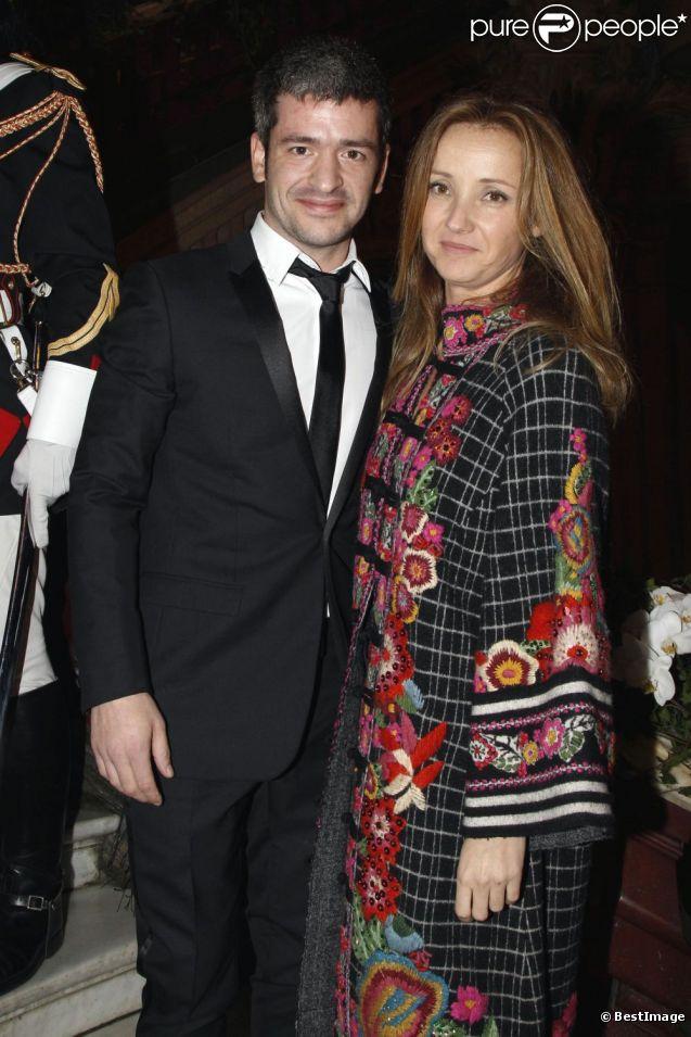 Grégoire et sa belle Eléonore de Galard le 22 novembre 2011 à l'Opéra Garnier à Paris