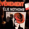 Amélie Nothomb signe son roman  Barbe Bleue  au Virgin Saint-Lazare, à Paris, le 5 septembre 2012.