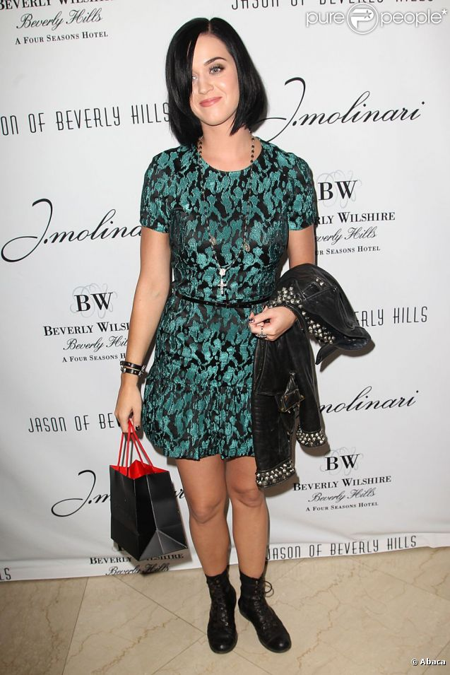 Katy Perry à la présentation de la collection de bijoux  Addicted  au Beverly Wilshire Hotel à Los Angeles, le 5 septembre 2012.