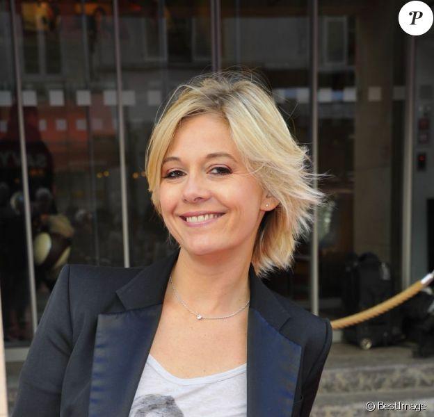 Flavie Flament lors de la conférence de rentrée de RTL à Paris le 6 septembre 2012