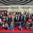 Toute l'équipe RTL lors de la conférence de rentrée de la radio à Paris le 6 septembre 2012