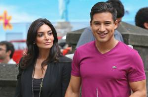 Mario Lopez : Promenade romantique pour le beau gosse et sa fiancée