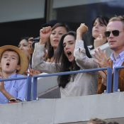 US Open - Jennifer Connelly : Maman enthousiaste avec son fils et Paul Bettany