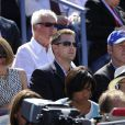 Kevin Spacey et Anna Wintour lors de la finale de l'US Open entre Serena Williams et Victoria Azarenka le 9 septembre 2012 à New York