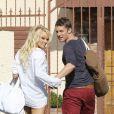 Pamela Anderson et le danseur Tristan MacManus à Los Angeles le 10 septembre 2012
