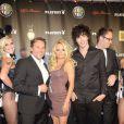 Pamela Anderson et son chéri Julian Perretta (à droite) à la Playboy Party à Cologne le 1er septembre 2012