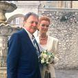 Mariage de Jacques Martin et Céline dans la commune de Tourette-sur-Loup, dans le sud de la France, le 20 avril 1992.