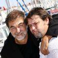 Olivier Marchal et Guy Lecluyse au Festival de la fiction TV de La Rochelle, le 13 septembre 2012