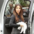 Kim Kardashian, très en beauté à son arrivée à la boutique D.A.S.H à Miami. Le 16 septembre 2012.