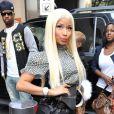 Nicki Minaj, entièrement habillée en Fendi, arrive au Lincoln Center pour assister aux auditions d'American Idol. New York, le 17 septembre 2012.