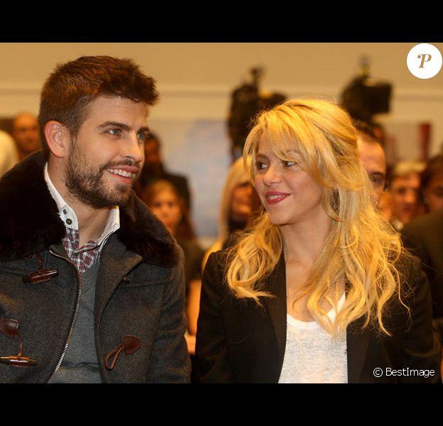 Shakira et son compagnon, l'arrière du Barça Gerard Piqué, en novembre 2011 à Barcelone