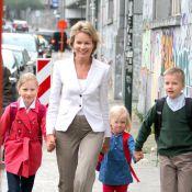 La princesse Mathilde radieuse pour la rentrée, Emmanuel en école spécialisée