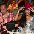 Franck Ribery et sa femme Wahiba, couple glamour lors de l'Oktoberfest de Munich le 23 septembre 2012