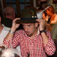 Franck Ribery tente un nouveau style lors de l'Oktoberfest de Munich le 23 septembre 2012