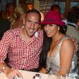 Franck Ribery et sa femme Wahiba, couple glamour et amoureux lors de l'Oktoberfest de Munich le 23 septembre 2012