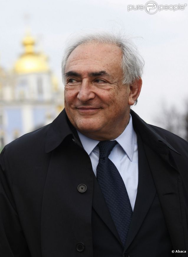 Dominique Strauss-Kahn le 4 avril 2012 à Kiev en Ukraine