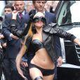 Lady Gaga déchaînée et dévêtue à New York en mai 2011.