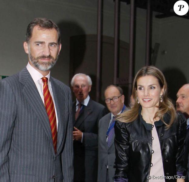 La princesse Letizia et Felipe d'Espagne à Cadix, le 26 septembre 2012.