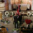 Obsèques de la princesse Ragnhild, Mme Lorenzen, soeur aînée du roi Harald V de Norvège, en la chapelle royale à Oslo, le 28 septembre 2012.