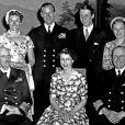La princesse Ragnhild (à droite), portrait de famille en 1955