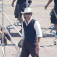 Johnny Depp et Armie Hammer lors d'un énième reshoot du western  Lone Ranger  de Gore Verbinski, le 27 septembre 2012. Le tournage a officiellement commencé le 25 février, il y a sept mois.