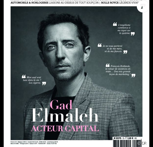 Retrouvez l'interview de Gad Elmaleh dans Edgar, en kiosques. Octobre 2012.
