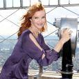 Marcia Cross à New York à l'Empire State Building pour la première journée internationale de la fille le 10 octobre 2012.