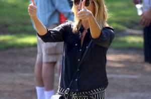 Heidi Klum, amoureuse et fière maman, retrouve de l'allure