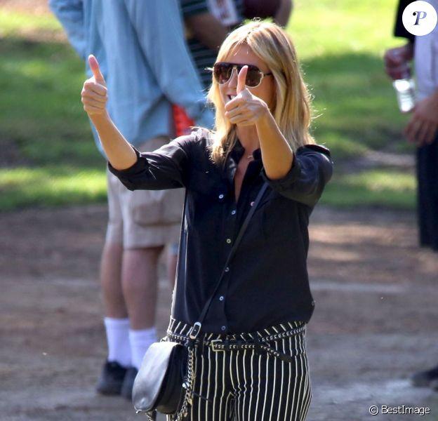 Heidi Klum, première suuportrice de son fils Henry. Brentwood, le 13 octobre 2012.