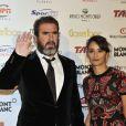 Eric Cantona et sa femme Rachida Brakni lors de la céremonie du Golden Foot Award à Monaco le 17 Avril 2012 au Sporting de Monte-Carlo
