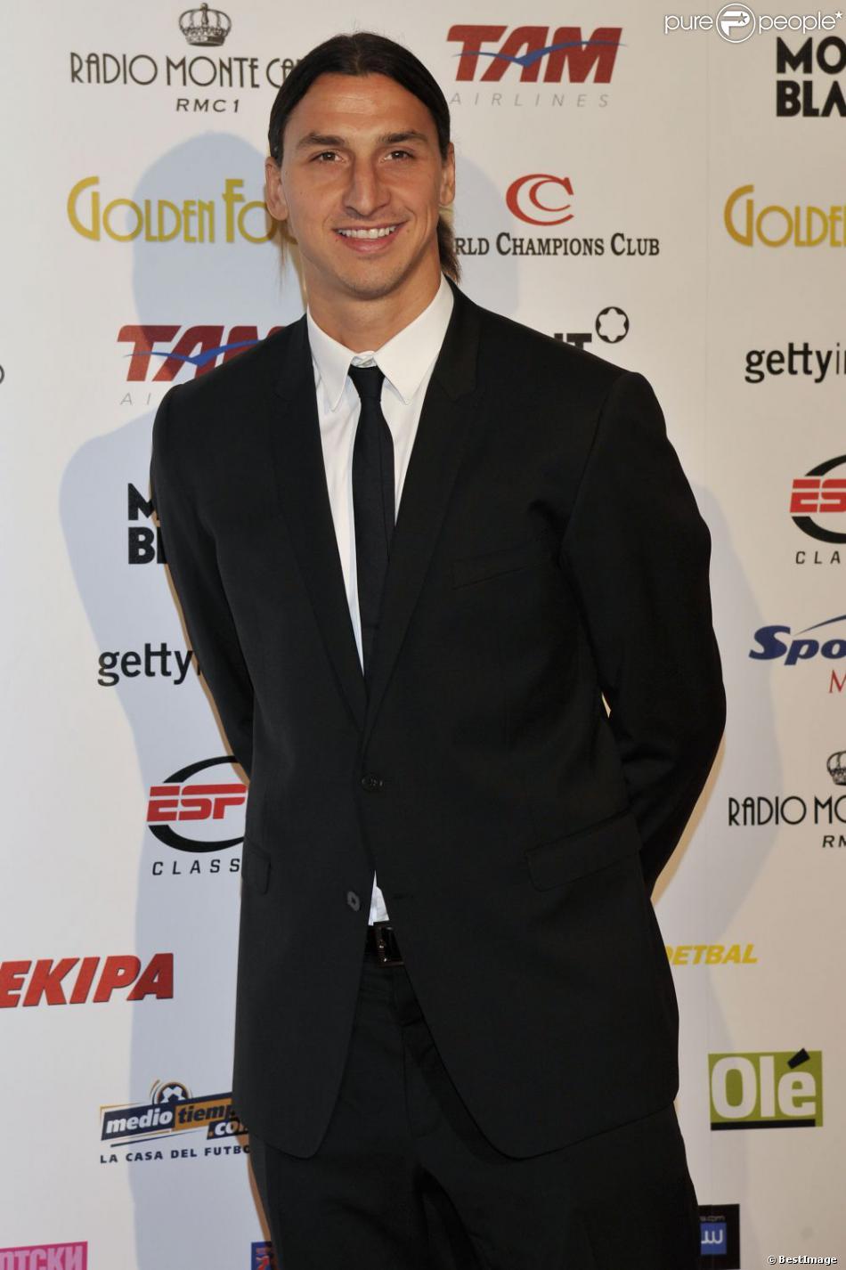 Zlatan Ibrahimovic lors de la céremonie du Golden Foot Award à Monaco le 17 Avril 2012 au Sporting de Monte-Carlo