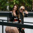 Mel C et Emma Bunton quittent les studios de la chaîne ITV à Londres, le 15 octobre 2012.