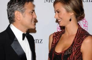 George Clooney et Stacy Keibler : L'acteur récompensé devant sa belle