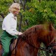 Nicole Kidman tourne une scène du film  Grace de Monaco  à cheval, près de Monaco. Le 12 octobre 2012.